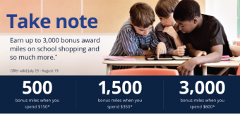Earn Bonus Airline Miles with Your Back-to-School Shopping