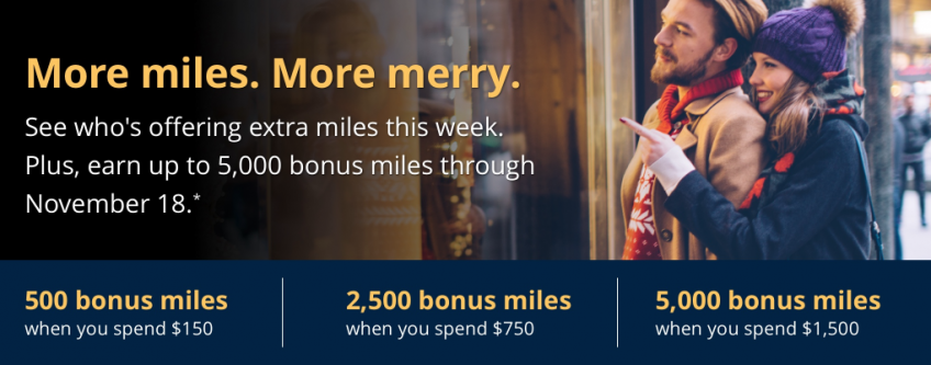 Earn Bonus Miles for Your Early Holiday Shopping at These Airline Portals