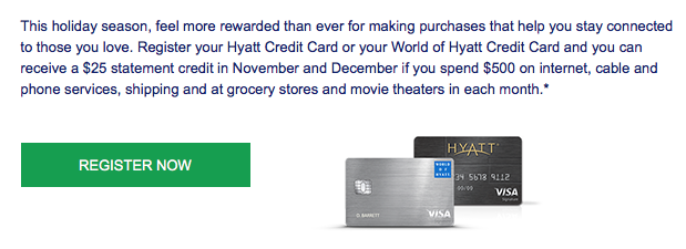 Use Your Hyatt Credit Card to Earn $50 with This Promo